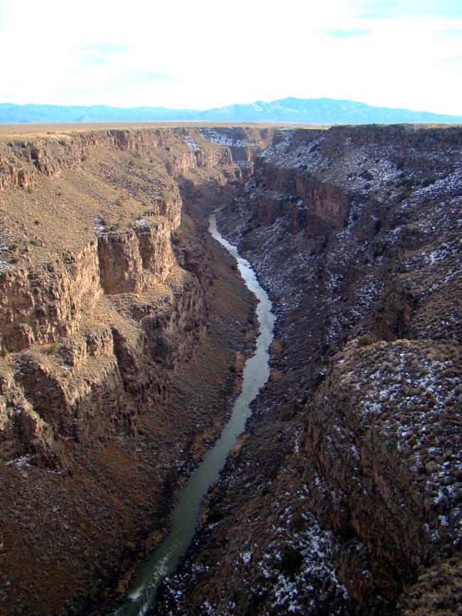 View from the Rio Grande River Gorge Bridge